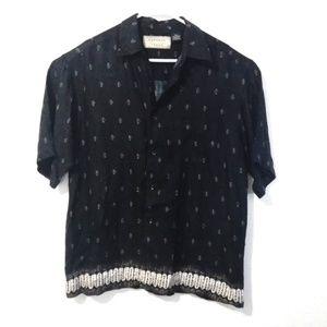 Natural Issue Shirts - Natural Issue Black Hawaiian Shirt Large